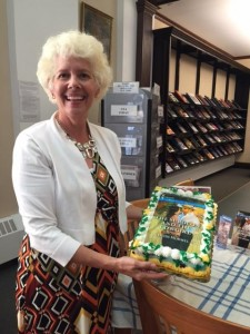 More cake for Heidi at Book Talk and Signing at the Guthrie Memorial Library-Hanover's Public Library.
